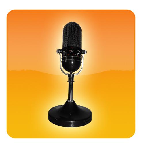 mic logo (orange)
